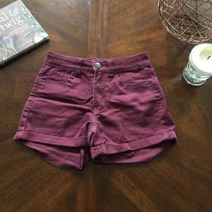 High Waisted Midi Shorts